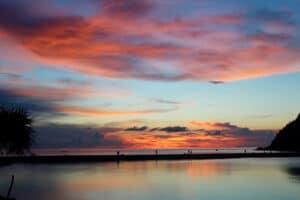 Farbenspiel beim Sonnenuntergang: Deborah & Kim
