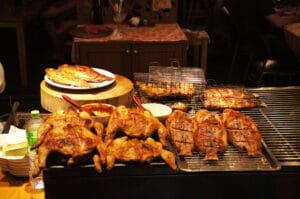 Typische Garküche in Bangkok