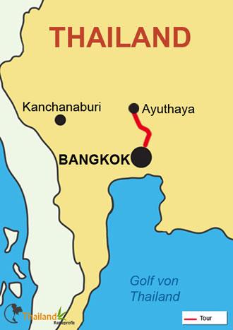 Ihre Fahrt von Bangkok aus auf der Mekhala
