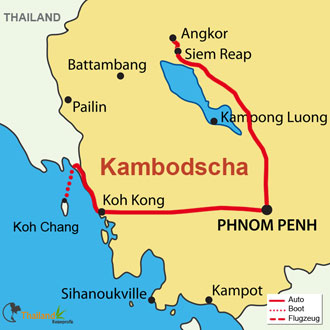 Ihre Rundreise durch Kambodscha und Thailand