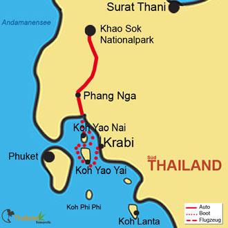 Ihre Rundreise durch das traumhafte Südthailand