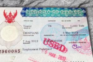 Thailand Visum für die Einreise für deutsche Staatsbürger