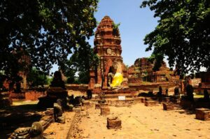 Der Wat Mahathat in Ayutthaya