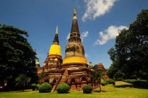 Der Wat Phra Si Sanphet in Ayutthaya